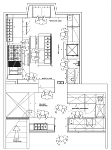 Sample Kitchen Plan Layout Drawing