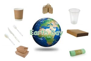 globe surrounded by recycled products